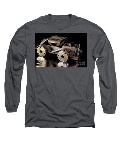 Long Sleeve T-Shirt featuring the photograph Rusty Rat Rod Toy by Wilma Birdwell