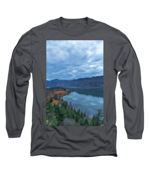 Ruthton Point During Evening Blue Hour Long Sleeve T-Shirt