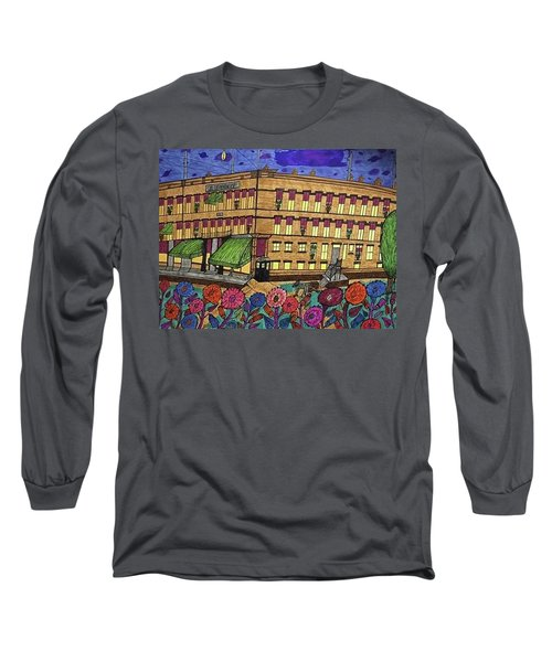 Long Sleeve T-Shirt featuring the painting S.m Stephenson Hotel by Jonathon Hansen