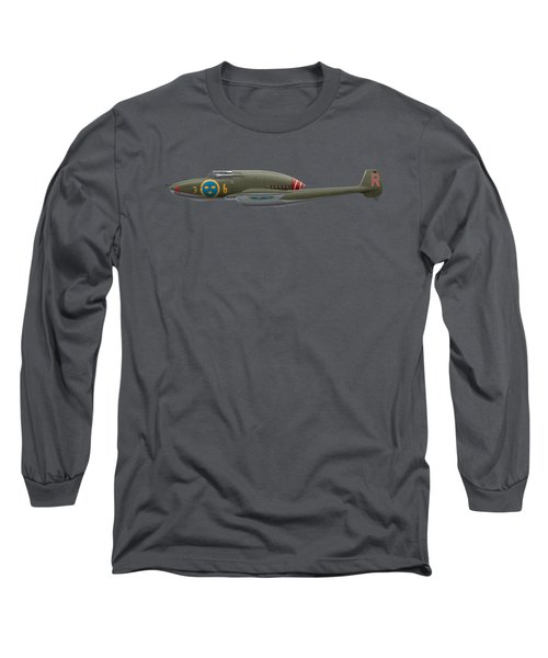 Saab A 21 A-3 - 21364 - Side Profile View Long Sleeve T-Shirt