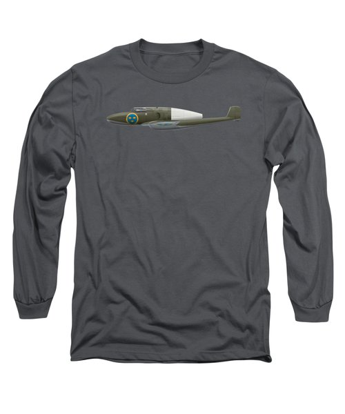 Saab J 21 R - Prototype -  Side Profile View Long Sleeve T-Shirt