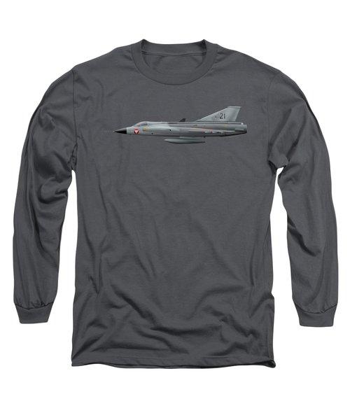 Saab J35o Draken - 351421 - Side Profile View Long Sleeve T-Shirt