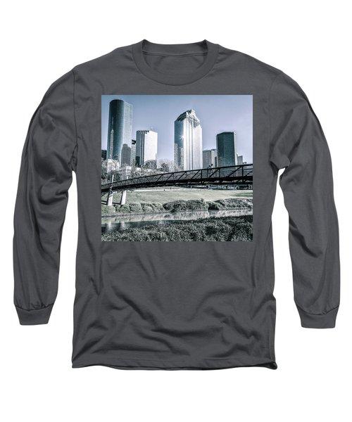 Sabine Promenade Over Buffalo Bayou Long Sleeve T-Shirt