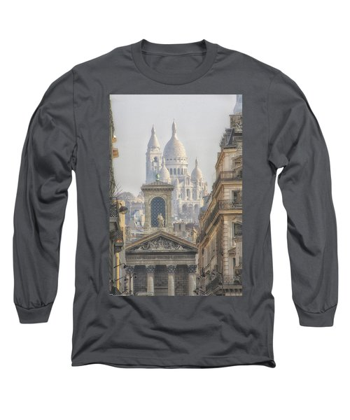 Sacre-coeur  Long Sleeve T-Shirt by Catherine Alfidi
