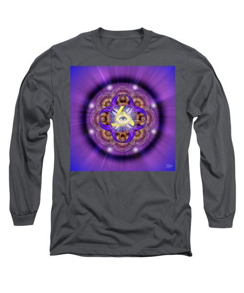 Sacred Geometry 639 Long Sleeve T-Shirt by Endre Balogh