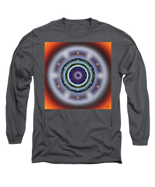 Sacred Geometry 640 Long Sleeve T-Shirt by Endre Balogh