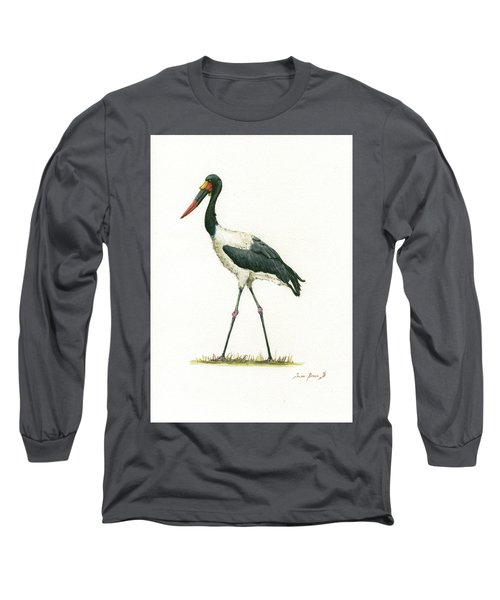 Saddle Billed Stork Long Sleeve T-Shirt