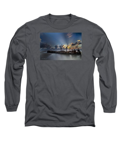 Safe Shore Long Sleeve T-Shirt by Arik Baltinester