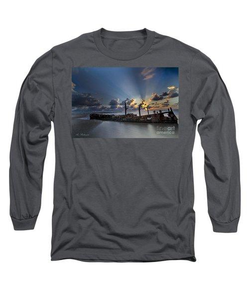 Long Sleeve T-Shirt featuring the photograph Safe Shore by Arik Baltinester