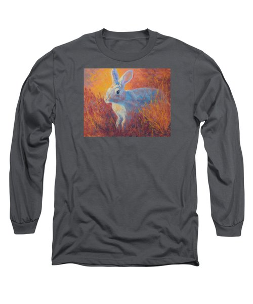 Long Sleeve T-Shirt featuring the painting Sage Hare by Nancy Jolley