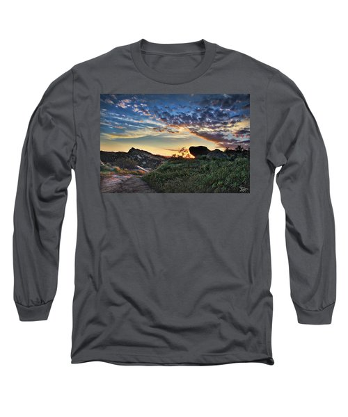 Sage Ranch Sunset Long Sleeve T-Shirt by Endre Balogh