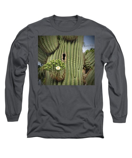 Saguaro In Bloom Long Sleeve T-Shirt
