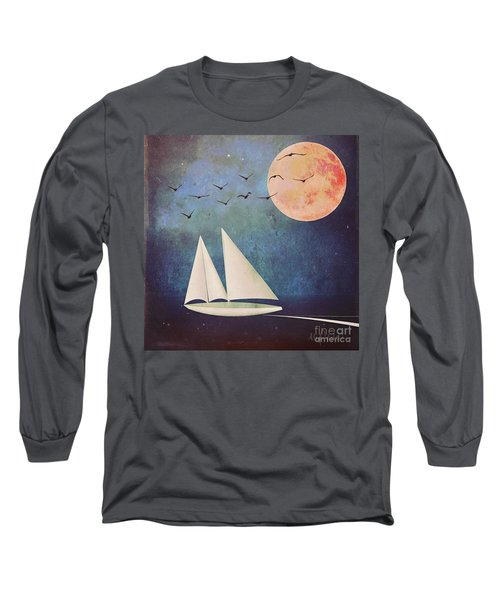 Sail Away Long Sleeve T-Shirt by Alexis Rotella