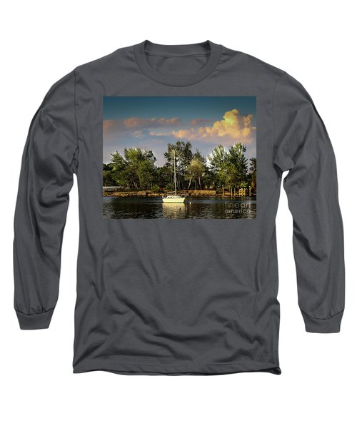 Sailboat In The Bay Long Sleeve T-Shirt
