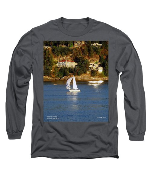 Sailboat In Vancouver Long Sleeve T-Shirt