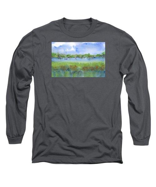 Sailboats At Beaufort Long Sleeve T-Shirt by Frank Bright
