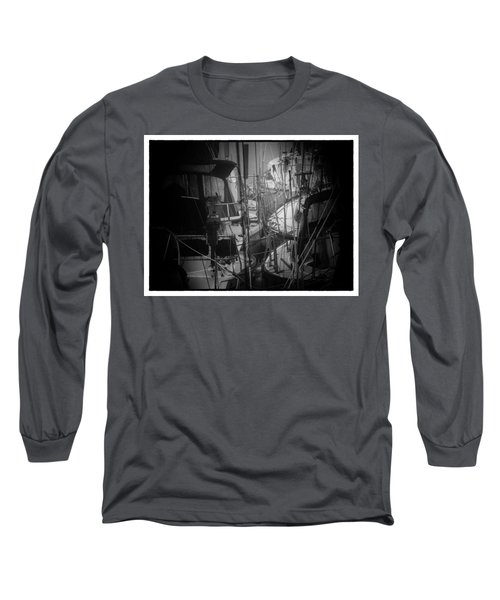 Sailboats Berthed In The Fog Long Sleeve T-Shirt