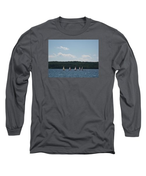 Sailboats In Eagle Harbor Long Sleeve T-Shirt