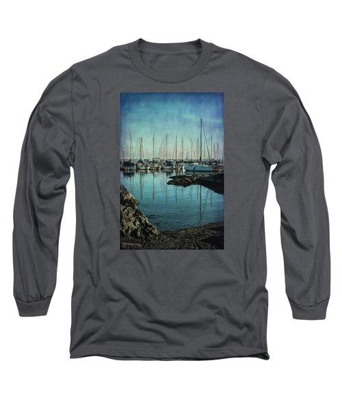 Marina - Digitally Textured Long Sleeve T-Shirt by Marilyn Wilson