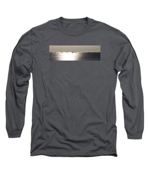 Sailboats On The Horizon Long Sleeve T-Shirt