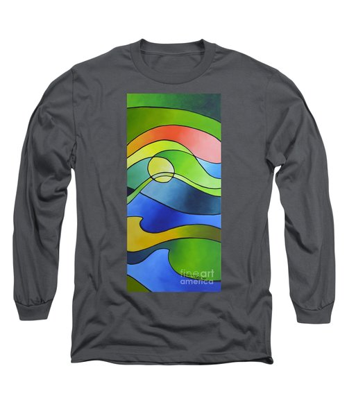 Sailing Away, Canvas Three Long Sleeve T-Shirt