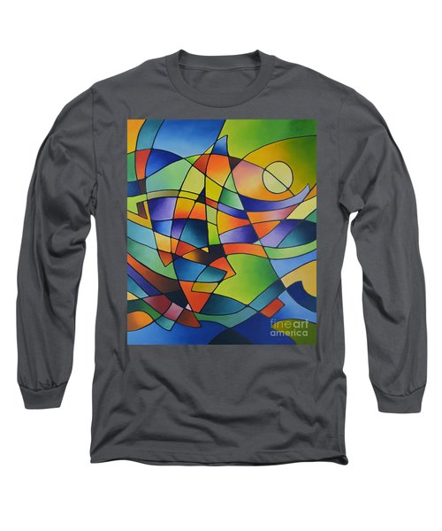 Sailing Away, Canvas Two Long Sleeve T-Shirt