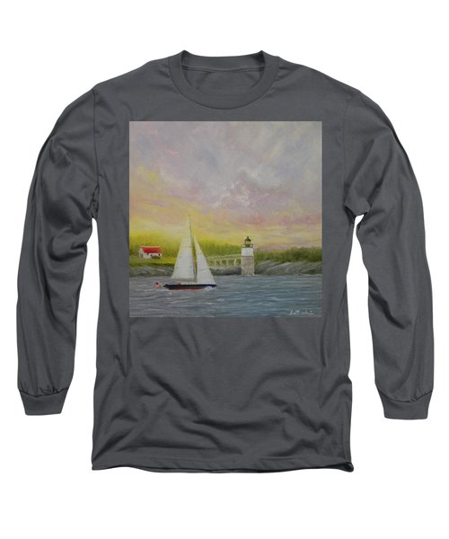 Sailing By Ram Island Long Sleeve T-Shirt