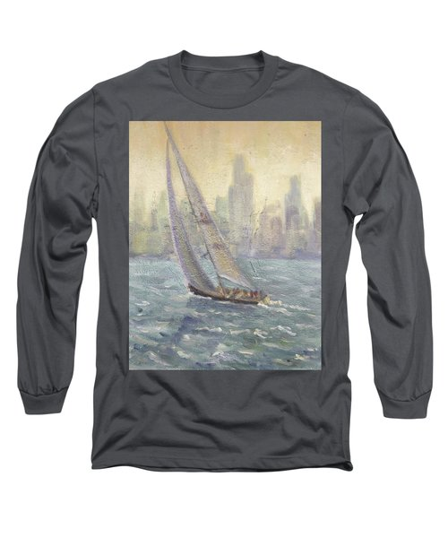 Sailing Chicago Long Sleeve T-Shirt