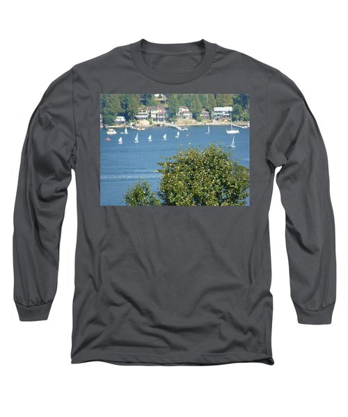 Long Sleeve T-Shirt featuring the painting Sailing by Rod Jellison