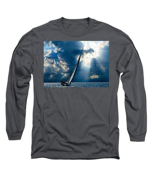 Sailing Ship . The Sea Hates A Coward.  Long Sleeve T-Shirt