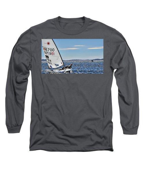 Sailing Ship  In Marseille Long Sleeve T-Shirt