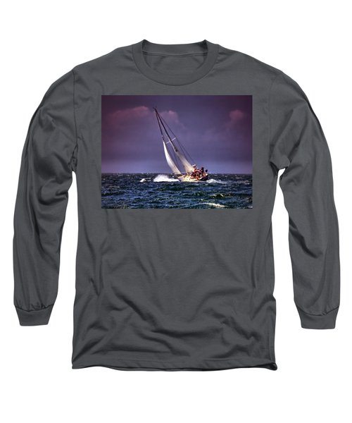 Sailing To Nantucket 001 Long Sleeve T-Shirt