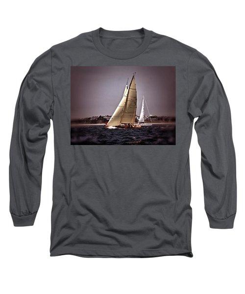 Sailing To Nantucket 005 Long Sleeve T-Shirt