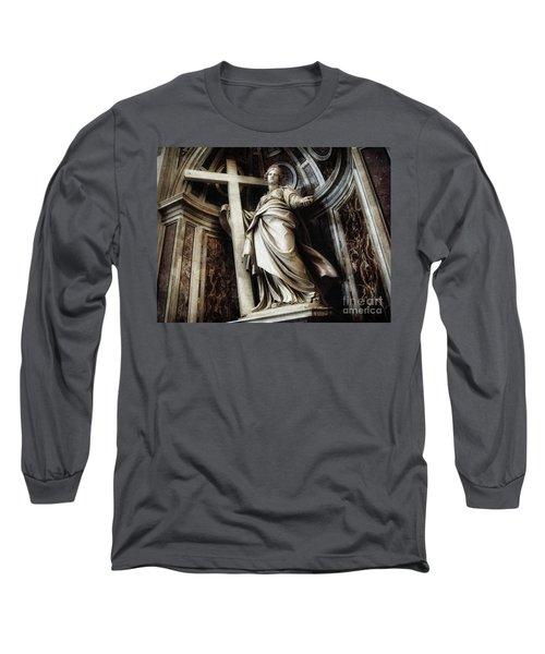Saint Helena Statue Inside Saint Peter S Basilica Rome Italy Long Sleeve T-Shirt