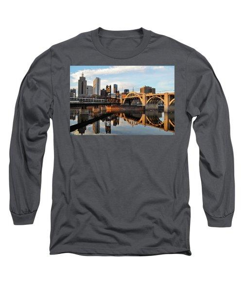 Saint Paul Mississippi River Sunset Long Sleeve T-Shirt