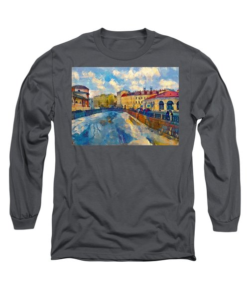 Saint Petersburg Winter Scape Long Sleeve T-Shirt
