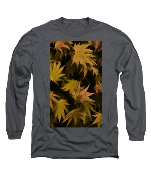 Japanese Autumn  Long Sleeve T-Shirt by Mike Nellums