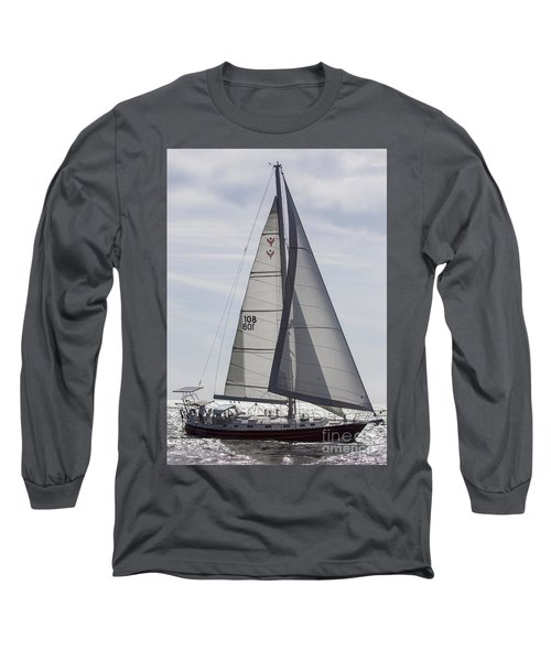 Saling Yacht Valkyrie Charleston Sc Long Sleeve T-Shirt
