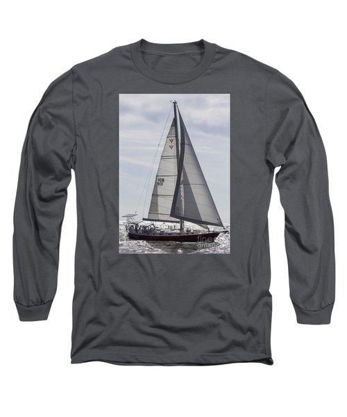 Saling Yacht Valkyrie Charleston Sc Long Sleeve T-Shirt