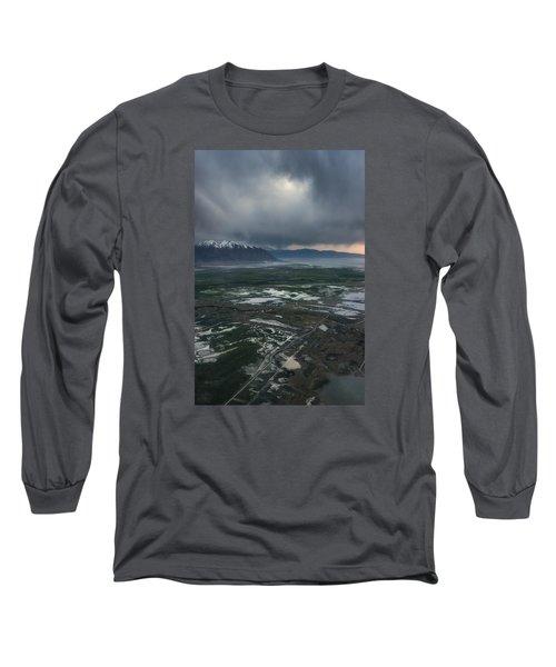 Long Sleeve T-Shirt featuring the photograph Salt Lake Drama by Ryan Manuel