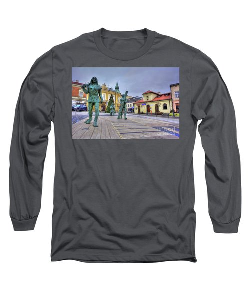 Long Sleeve T-Shirt featuring the photograph Salt Miners Of Wieliczka, Poland by Juli Scalzi