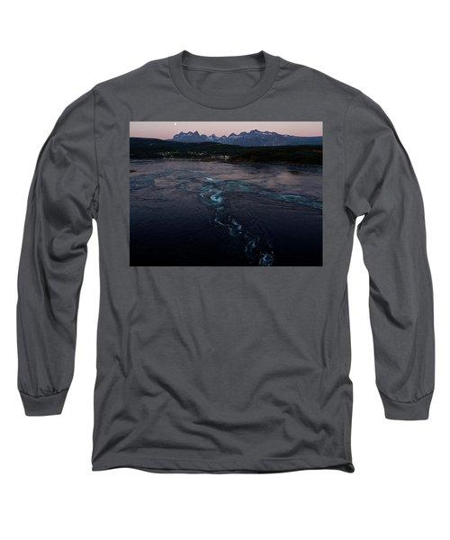 Saltstraumen, Magic Power Stream Long Sleeve T-Shirt by Tamara Sushko