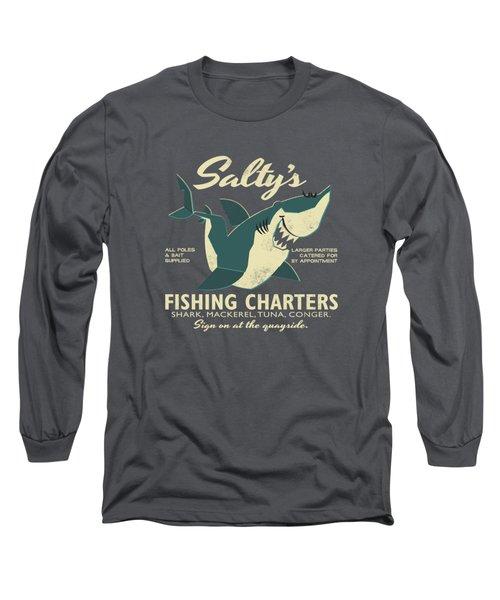 Salty's Fishing Charters Long Sleeve T-Shirt