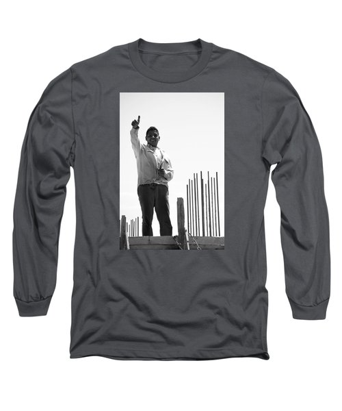 Long Sleeve T-Shirt featuring the photograph Saludo Ako Sayo by Jez C Self