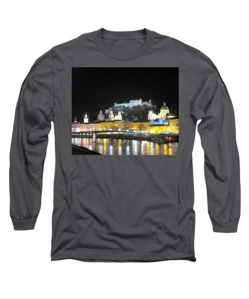 Salzburg At Night Long Sleeve T-Shirt