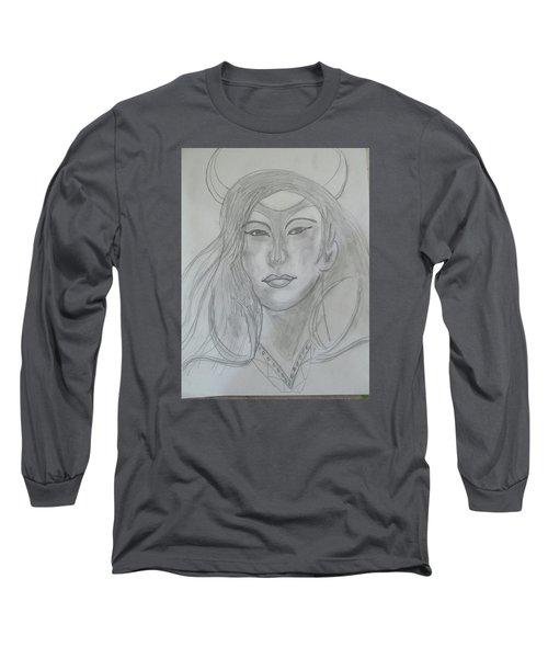 Samarai Warrior Woman Long Sleeve T-Shirt
