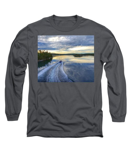 Sambro Basin II Nova Scotia Long Sleeve T-Shirt by Heather Vopni