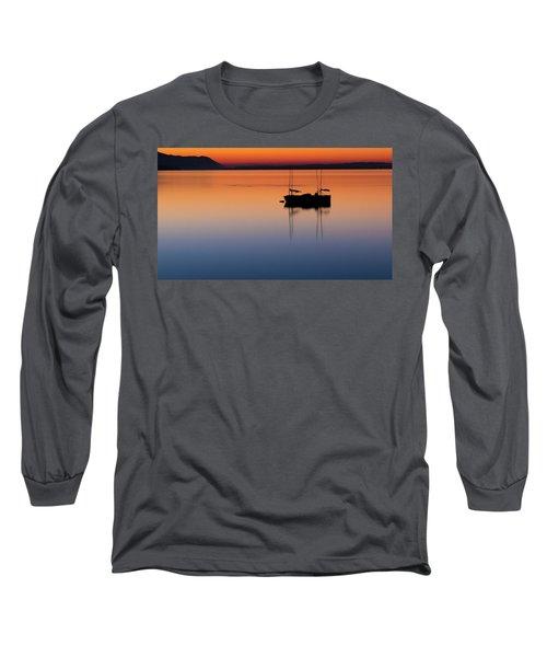 Samish Sea Sunset Long Sleeve T-Shirt