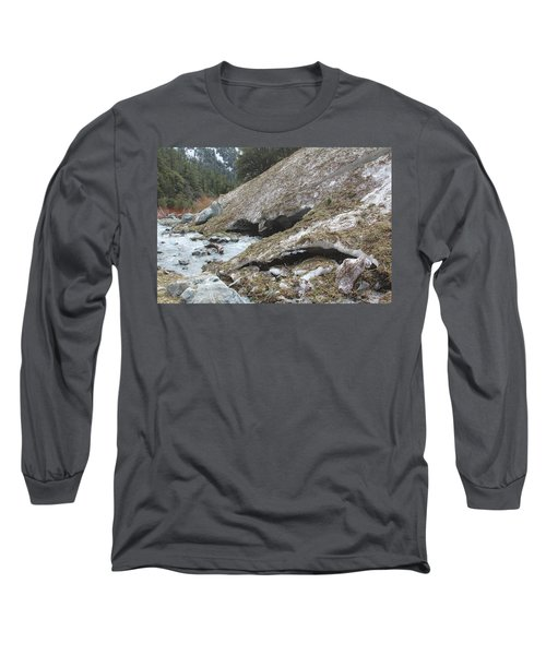 Long Sleeve T-Shirt featuring the photograph San Antonio Glacier by Viktor Savchenko