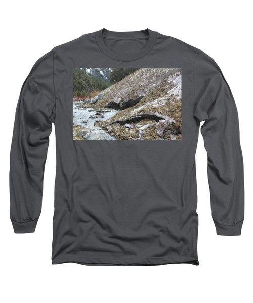 San Antonio Glacier Long Sleeve T-Shirt by Viktor Savchenko